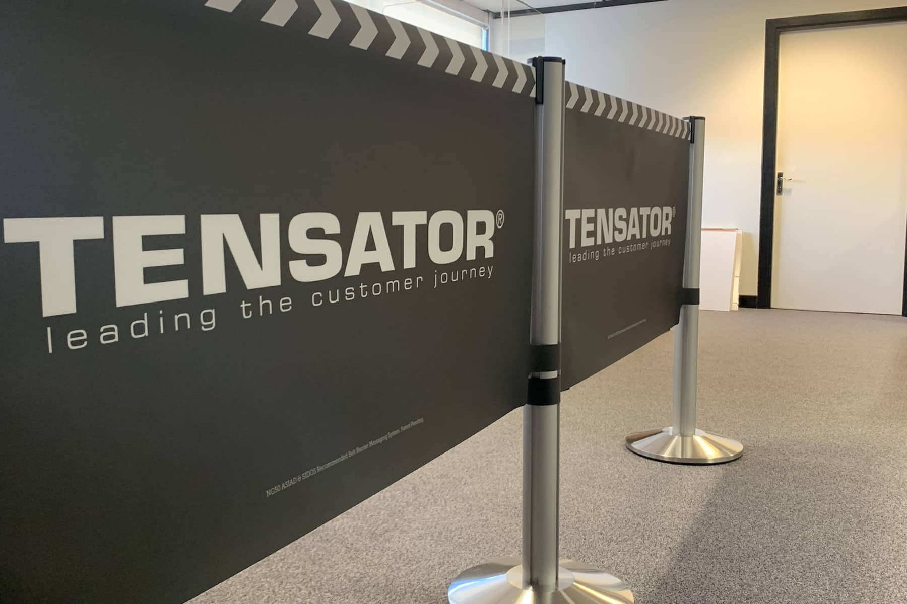 custom airport barriers and graphics
