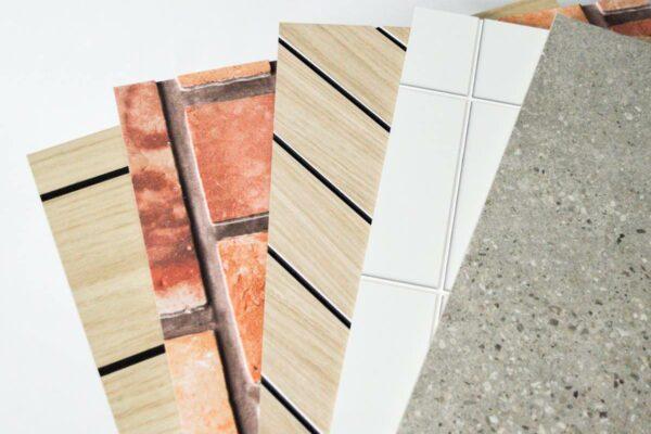 Fake wood tiles brick