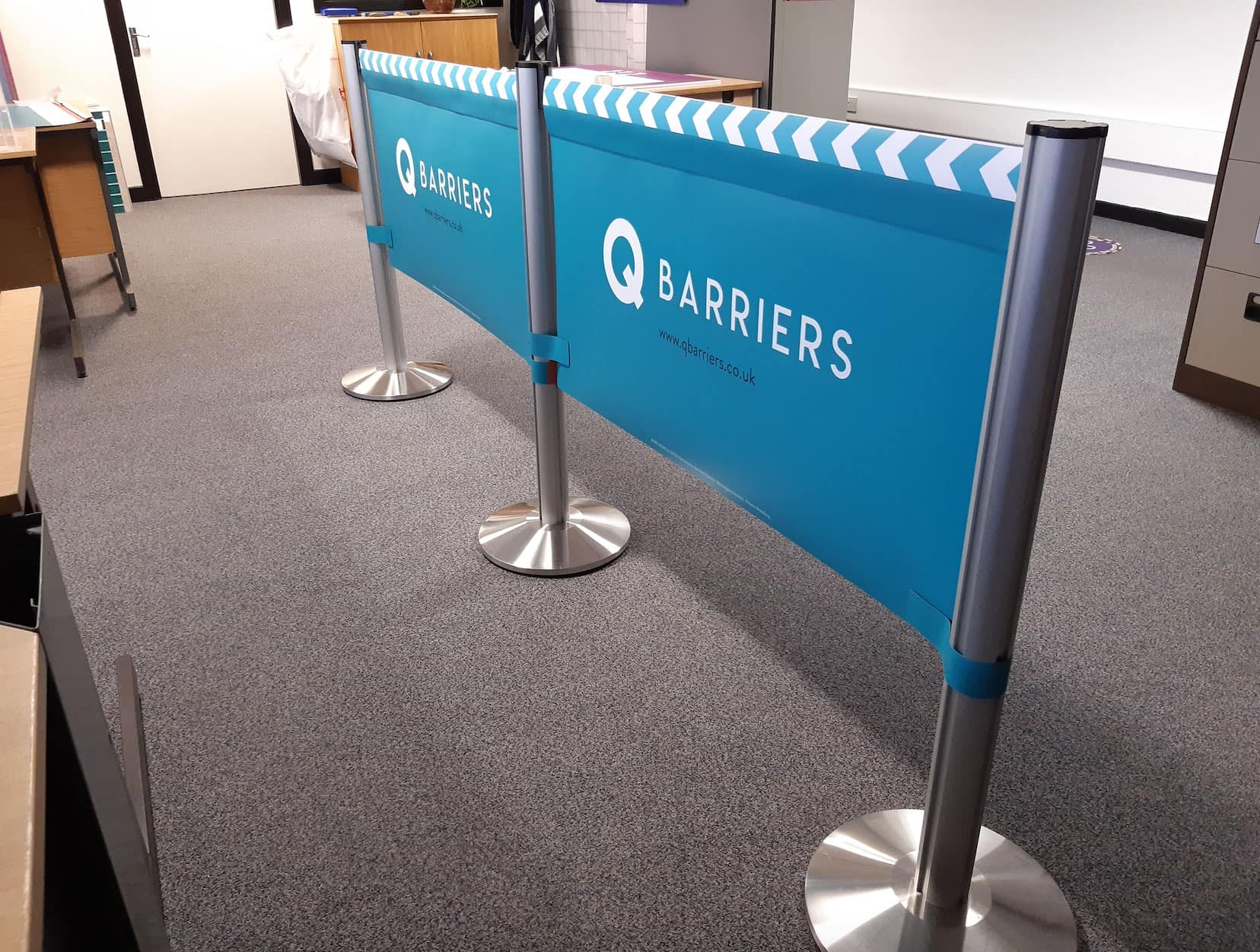 custom barriers and graphics